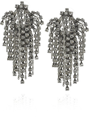 Dannijo Cecile Swarovski crystal silver-plated earrings - Jewelry