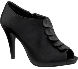 Women&#39;s Ruffled Peep-Toe Platform Booties - Shoes