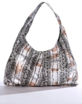 White Gold and Silver Snakeskin Hobo - Torrid