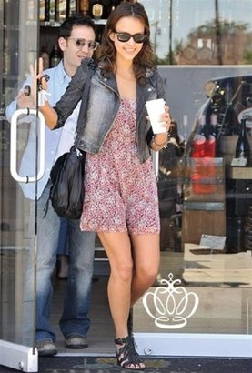 Domino Clothing Cassie Denim Jacket-PREORDER - Get This Look-Jessica Alba