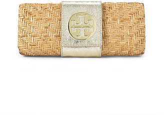 Rattan Clutch - Gold Clutch Bags