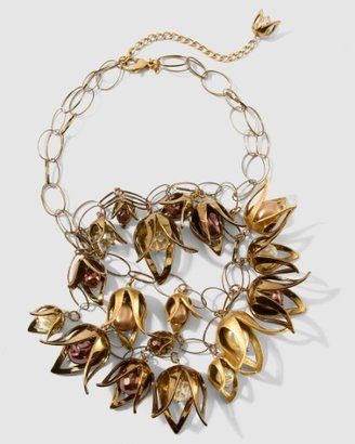Stephonie Necklace - Bronze Statement Necklace