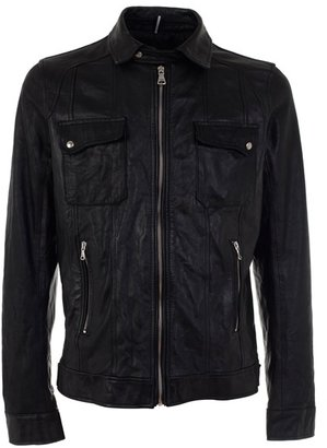 DANIELE ALESSANDRINI - Leather jacket - Outerwear