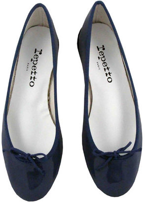 Repetto Bb Patent Ballet Flats In Denim - Shoes