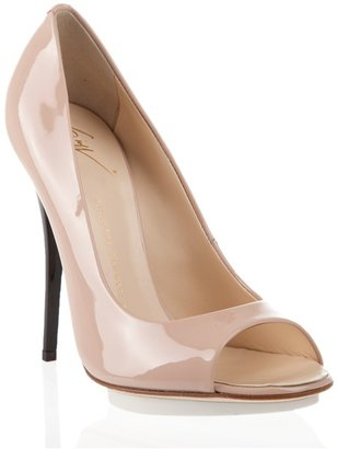 GIUSEPPE ZANOTTI DESIGN - Nude contrast court shoes - Peep Toe Pumps