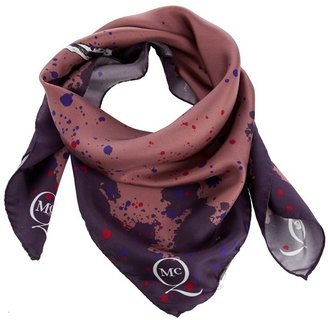 MCQ BY ALEXANDER MCQUEEN - Paint splat effect scarf with logo print - Alexander McQueen Scarves