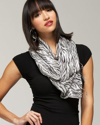Metallic Zebra Scarf - Accessories