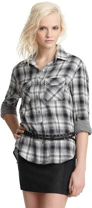 Vince Supersoft Plaid Button-Down Shirt - Plaid Button-Down Shirts 