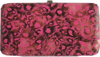 Brushed Leopard Hinge Wallet - Accessories