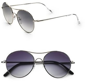 Tom Ford Eyewear Retro Round Sunglasses - Men's Round Lenses