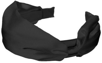 Wide Satin Headband - Black - Target