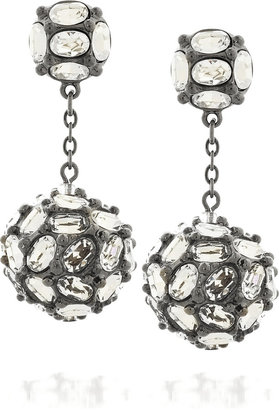 Kenneth Jay Lane Swarovski ball-drop earrings - Dangle Earrings