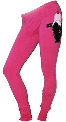 Wildfox - Lock and Loaded Pink Leggings - Tights
