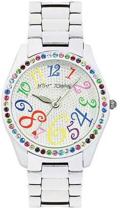 Betsey johnson white-dial boyfriend watch - Oversized Watches for Women