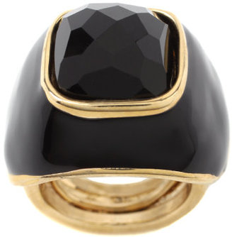 Kara Ross Black Enamel And Onyx Ring - Kara Ross