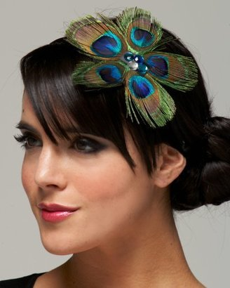 Peacock Feather Headband - Feathered Headbands 