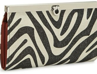 Kate landry metallic animal-print canvas accordion clutch - Handbags