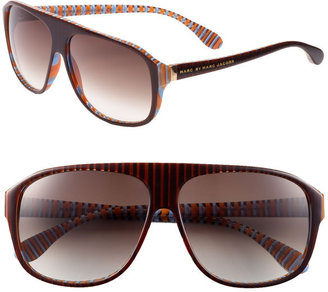 MARC BY MARC JACOBS Stripe Resin Aviator Sunglasses - Marc Jacobs Sunwear