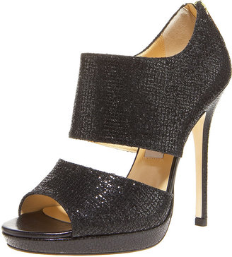 Jimmy Choo Glittered Fabric Sandal - Strappy Sandals