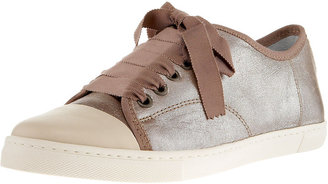 Lanvin Leather Ribbon-Front Sneaker - Leather Lace-ups