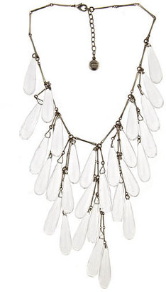 Ben-Amun Lucite Icicles Necklace - Statement Necklace