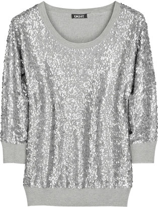 DKNY Sequined cashmere-blend sweater - Sequined Sweaters
