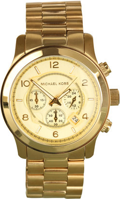 Michael Kors Watches Large Gold Chronograph - Incredibly Gold Watches for Men