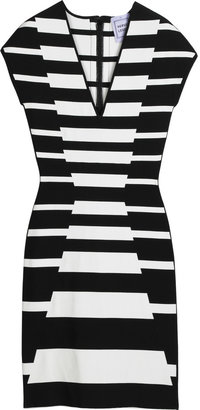 Herv Lger Striped bandage mini dress - Bodacious Bandage Dresses