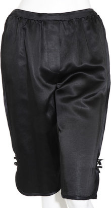 Marc Jacobs Cropped Pajama Pant - Black - Silk Pajamas