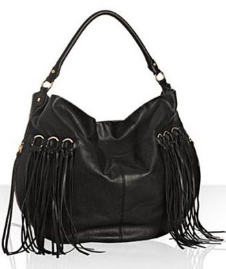 Rebecca Minkoff ebony leather 'Fringe Darling' hobo - Hobo Bags