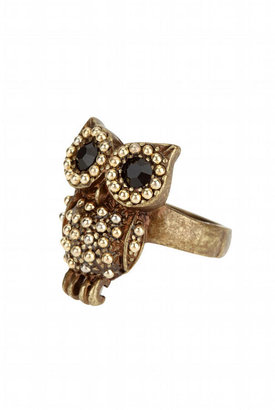 Studded Owl Ring - Decorative Rings