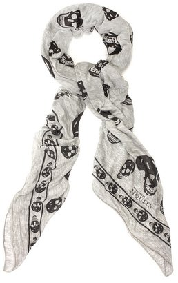 Grey/black Jersey Skull Scarf - Accessories