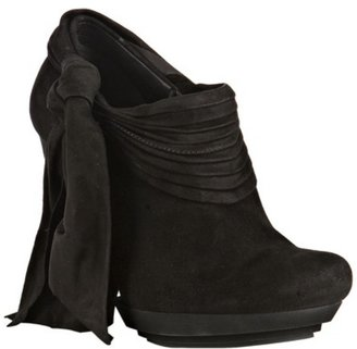 Balenciaga black suede tie detail platform booties - Boots