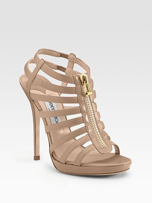 Jimmy Choo Glenys Cage Platform Sandals - Strappy Sandals