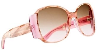 **EXCLUSIVE** Paris Hilton - Women&#39;s Light Pink Limited Edition Model 214 Sunglasses - Novelty Sunglasses