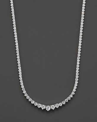 Diamond Tennis Necklace in 14 Kt. White Gold, 7.0 ct. t.w. - Tennis Necklaces