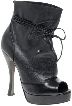 Carvela Sport Platform Heeled Tie Ankle Boots - Paperbag Booties