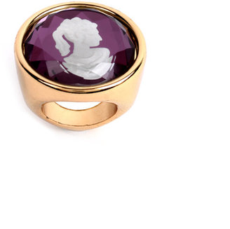 ASOS Cameo Ring With Faceted Glass Overlay - Asos