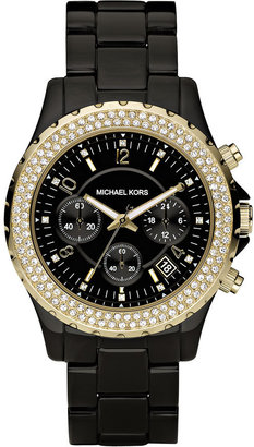 Michael Kors Twin Row Crystal Chronograph Watch - Must Have Michael Kors Watches