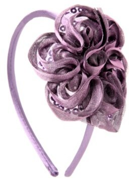 Purple Sequined Swirling Flower Headband - Hair Accessories