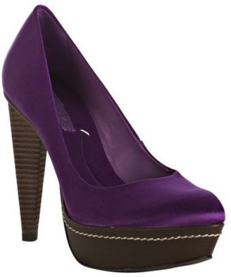 BCBGMAXAZRIA orchid satin &#39;Diva&#39; platform pumps - Heels