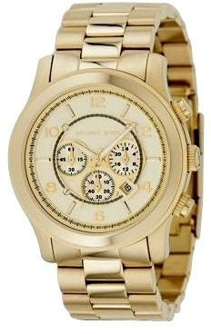 Michael Kors - Gold Oversized Chronograph Watch - Incredibly Gold Watches for Men