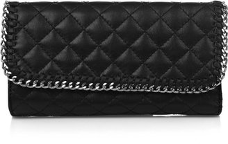 DKNY Chain-trim quilted leather wallet - DKNY