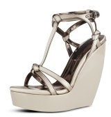 Satin Wedge Sandal - Wedges 
