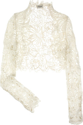 Temperley London Selena lace shrug - Sassy Shrug Sweaters