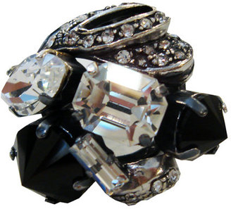 Iosselliani Silver Multicollet Ring - Statement Cocktail Rings