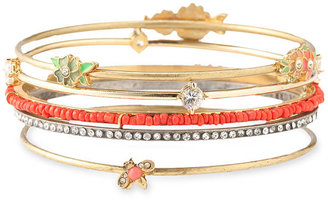 Juicy Couture &#39;Flower Punk Couture&#39; Stacking Bangles (Set of 5) - Rihanna-Style Accessories