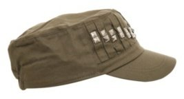 Olive Pyramid Stud Cadet Cap - The Best Studded Hats 