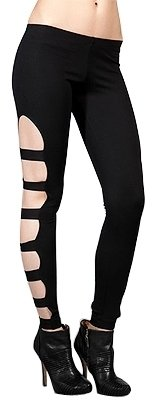 6126 - Showgirl Ponti Cutout Legging in Black - 6126