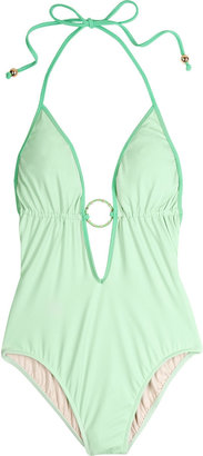 Milly Anacapri plunge-front swimsuit - Swimwear